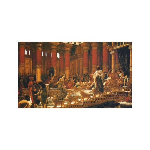 The Visit Of The Queen Of Sheba To King Solomon Stretched Canvas Prints