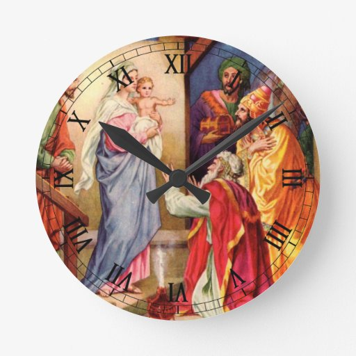 The Visit of the Wise-Men Round Wall Clocks
