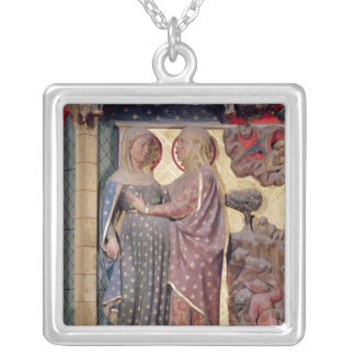 The Visitation, 1340-51 Silver Plated Necklace