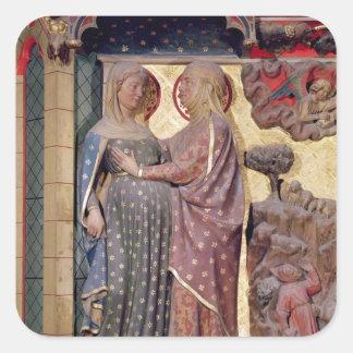 The Visitation, 1340-51 Square Sticker