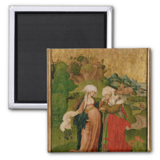 The Visitation, 1506 Square Magnet