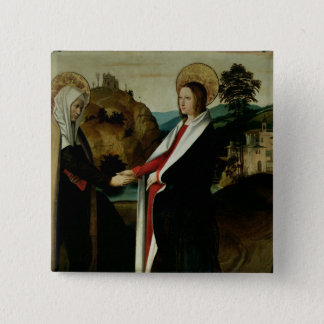 The Visitation, c.1500 15 Cm Square Badge