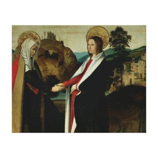 The Visitation, c.1500 Canvas Print