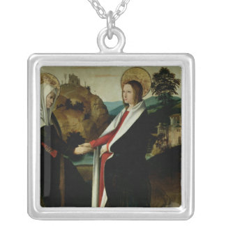The Visitation, c.1500 Silver Plated Necklace