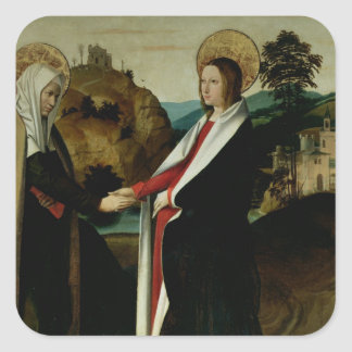 The Visitation, c.1500 Square Sticker