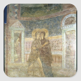 The Visitation, detail from the chapel interior Square Sticker