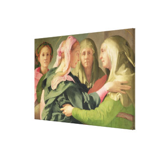 The Visitation (detail of 60438) Canvas Print