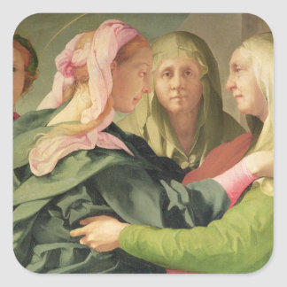 The Visitation (detail of 60438) Square Sticker