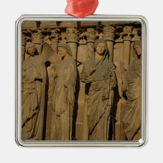 The Visitation, four jamb figures Christmas Ornament