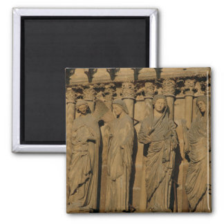 The Visitation, four jamb figures Square Magnet