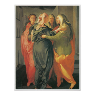 The Visitation - Jacopo Da Pontormo Canvas Print