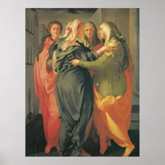 The Visitation - Jacopo Da Pontormo Posters