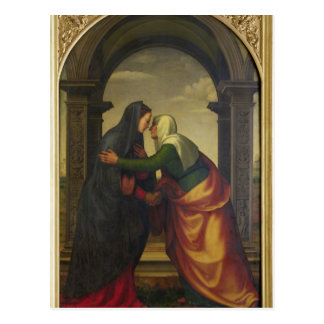 The Visitation of St. Elizabeth to the Virgin Mary Postcard