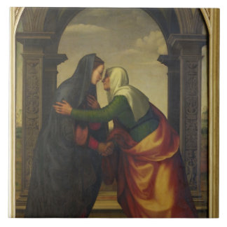 The Visitation of St. Elizabeth to the Virgin Mary Tile