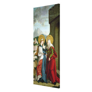 The Visitation (oil on panel) Canvas Print