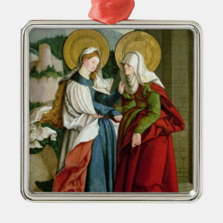The Visitation (oil on panel) Christmas Ornament