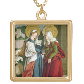 The Visitation (oil on panel) Pendant