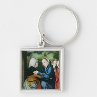 The Visitation Silver-Colored Square Key Ring