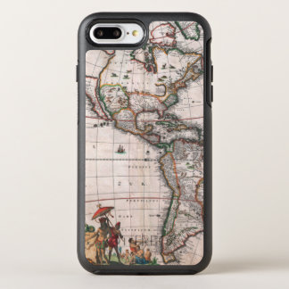 The Visscher map of the New World OtterBox Symmetry iPhone 8 Plus/7 Plus Case