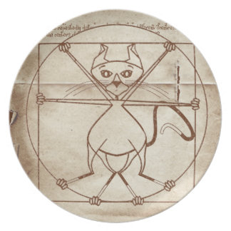 The Vitruvian Kitty Party Plate