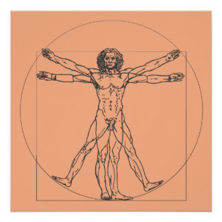 The Vitruvian Man Poster