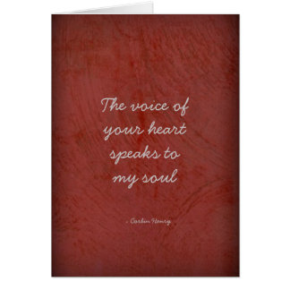The Voice Of Your Heart - Circles Greeting Card