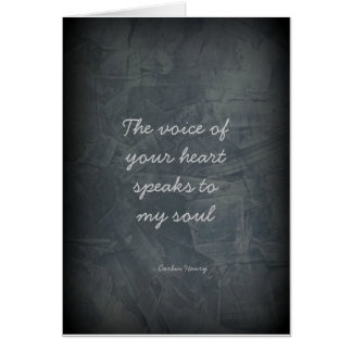 The Voice Of Your Heart - Slate Gray Greeting Card