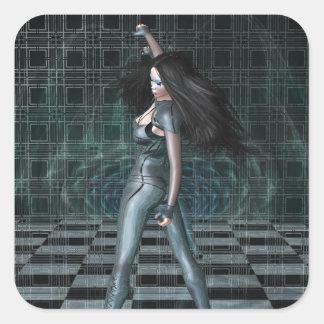 The Vortex Mirror Square Sticker