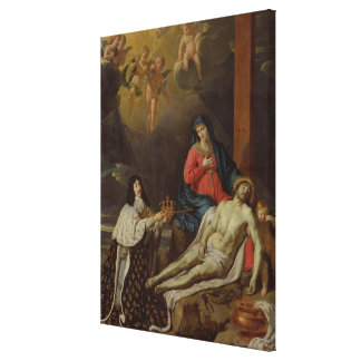 The Vow of Louis XIII  King of France and Canvas Print