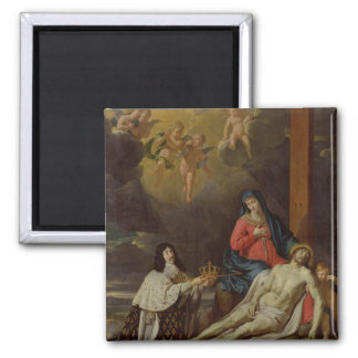 The Vow of Louis XIII  King of France and Square Magnet