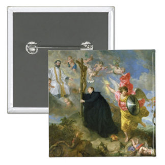 The Vows of Saint Aloysius of Gonzaga 15 Cm Square Badge