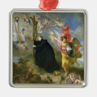 The Vows of Saint Aloysius of Gonzaga Silver-Colored Square Decoration
