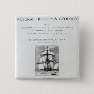 The Voyage of the Beagle 15 Cm Square Badge