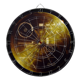 The Voyager Golden Record Dartboard