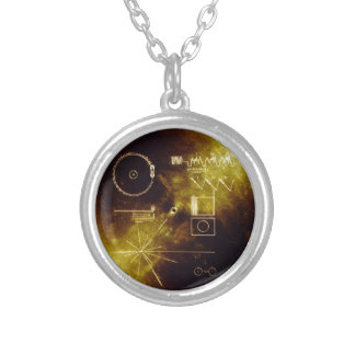 The Voyager Golden Record Silver Plated Necklace