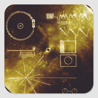 The Voyager Golden Record Stickers