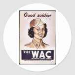 The Wac Womens Army Corps Round Sticker