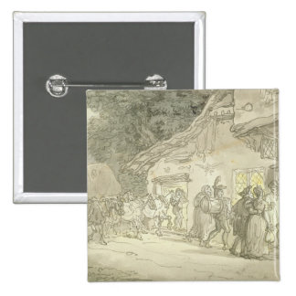 The Waggoner's Rest, c.1800-05 (pen & ink and w/c 15 Cm Square Badge