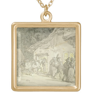 The Waggoner's Rest, c.1800-05 (pen & ink and w/c Jewelry