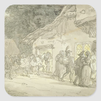 The Waggoner's Rest, c.1800-05 (pen & ink and w/c Square Sticker