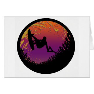THE WAKEBOARD SCARECROW GREETING CARD