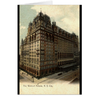 The Waldorf Astoria, New York City 1908 Vintage Greeting Card