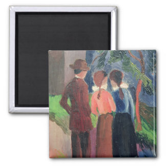 The Walk, 1914 Square Magnet