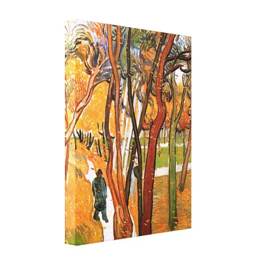 The Walk in Falling Leaves by Vincent van Gogh Canvas Print
