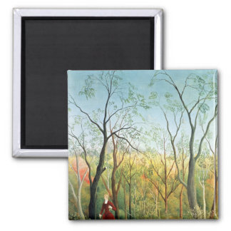 The Walk in the Forest, 1886-90 Square Magnet