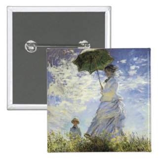 The Walk, Lady with a Parasol 15 Cm Square Badge