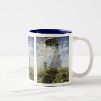 The Walk, Lady with a Parasol Two-Tone Mug