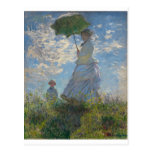 The Walk, Woman with a Parasol (1875) Post Card