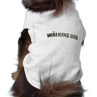 """The Walking Dog"" Doggie Tank Top Sleeveless Dog Shirt"