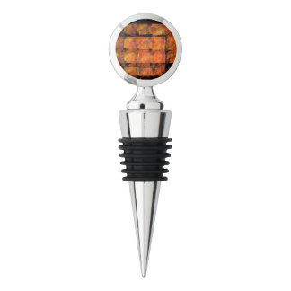 The Wall Abstract Art Chrome Wine Stopper